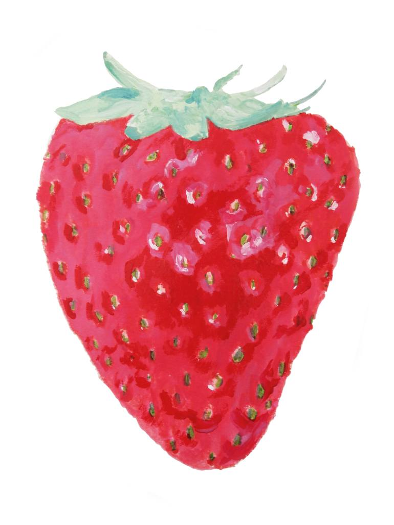 770x1027 Saatchi Art Strawberry Drawing By Cynthia Elisabeth