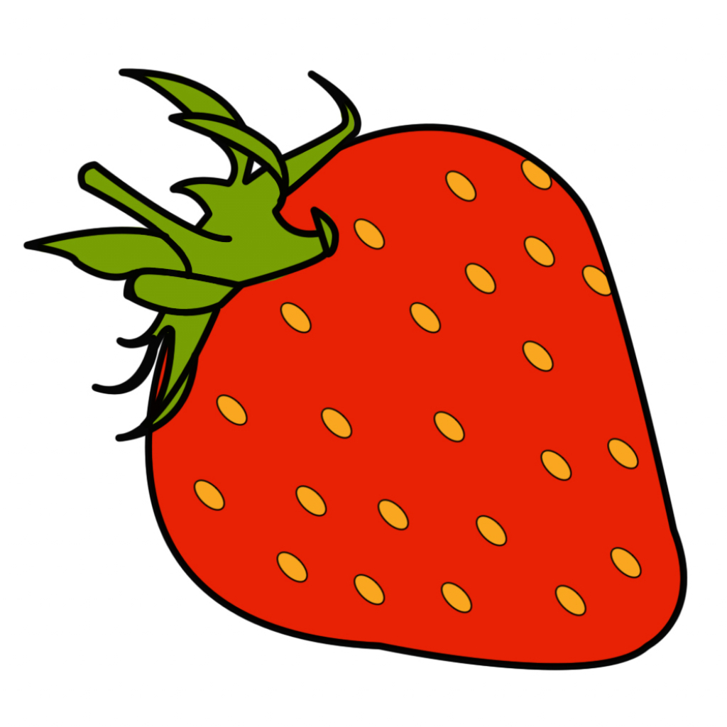 1024x1024 Cute Strawberry Drawing