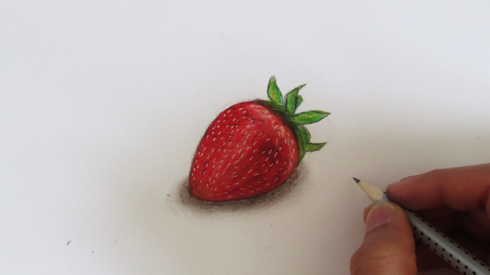 1600x899 Realistic Strawberry (Speed Drawing)