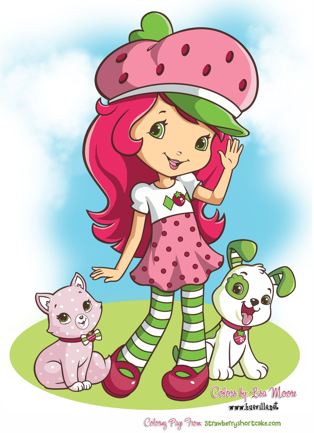 1090x1505 New Strawberry Shortcake Drawing Obrazki Clip Art
