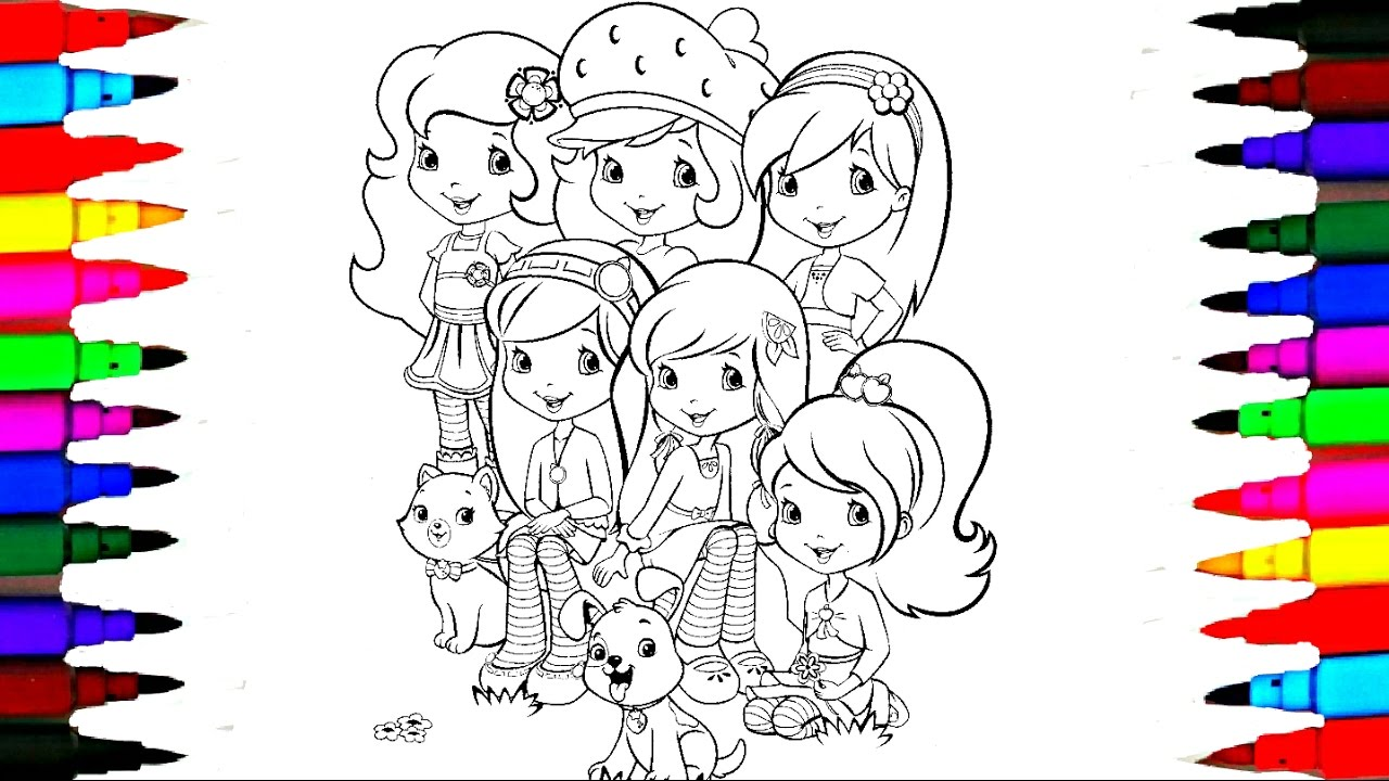 1280x720 Strawberry Shortcake Berry Best Friends Forever Drawing Pages L