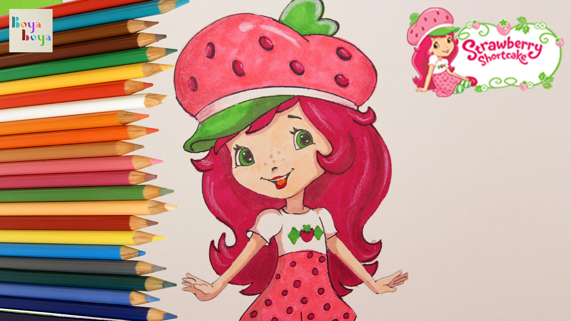 1920x1080 Strawberry Shortcake Drawing Painting Coloring How To Draw