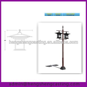350x350 Double Arm Stadium Street Light Pole Drawing
