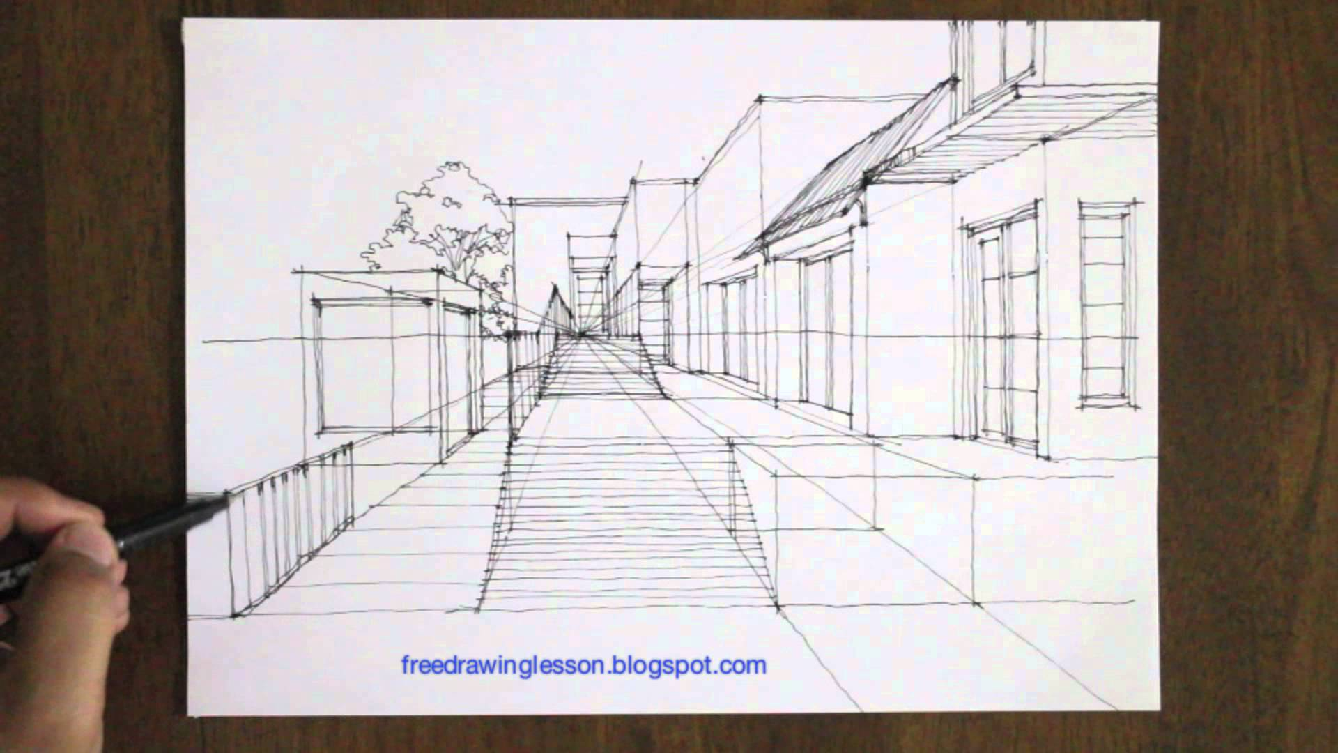 Street Perspective Drawing at GetDrawings com | Free for