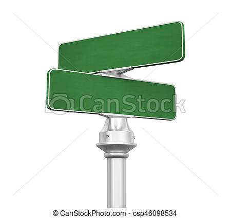 450x425 Blank Street Sign Isolated On White Background. 3d Render Drawings