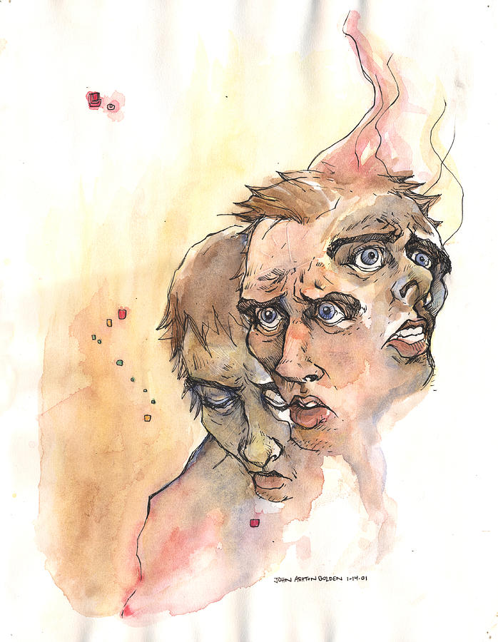 698x900 Stress Anxiety Depression Drawing By John Ashton Golden