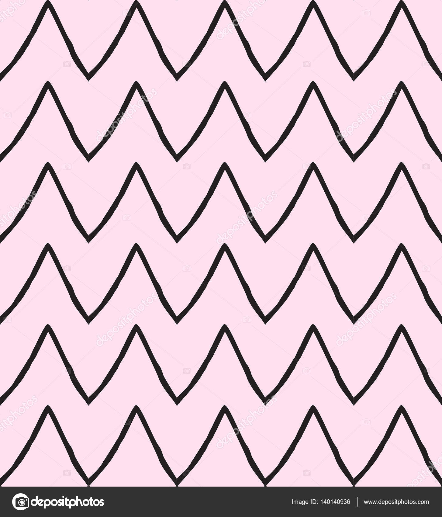 1454x1700 Zigzag Pattern. Hand Drawn Zigzag Lines Seamless Pattern