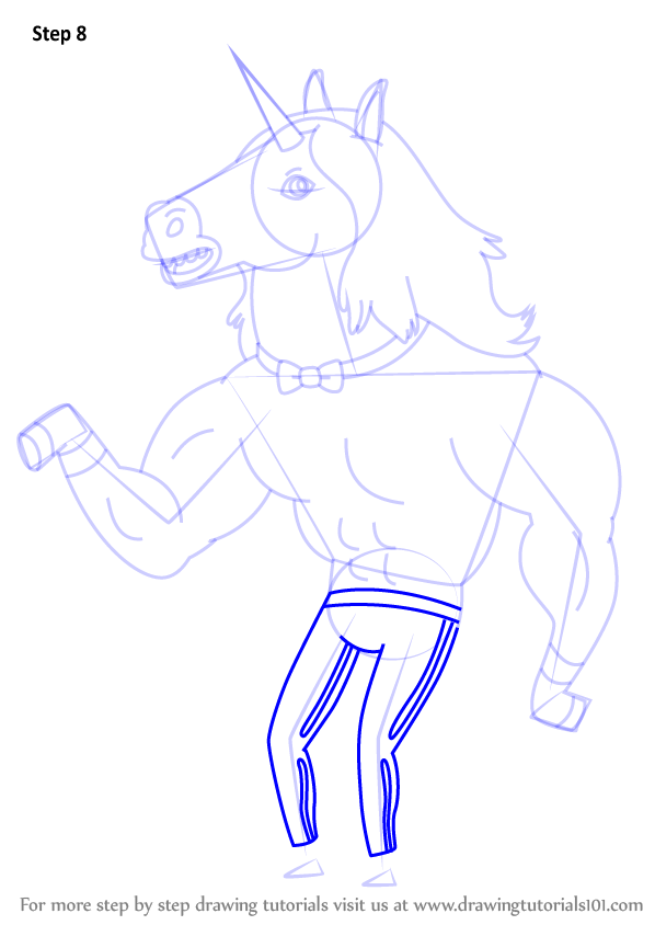 598x844 Step By Step How To Draw Stripper Unicorns From Bravest Warriors