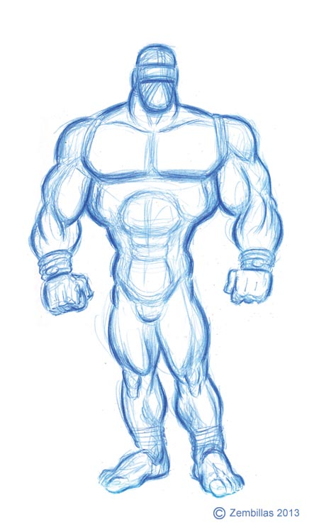 450x750 Charles Zembillas Muscle Man Practice