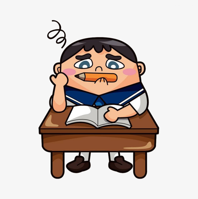 650x651 A Student In Class, Cartoon Hand Drawing, Study, Attend Class
