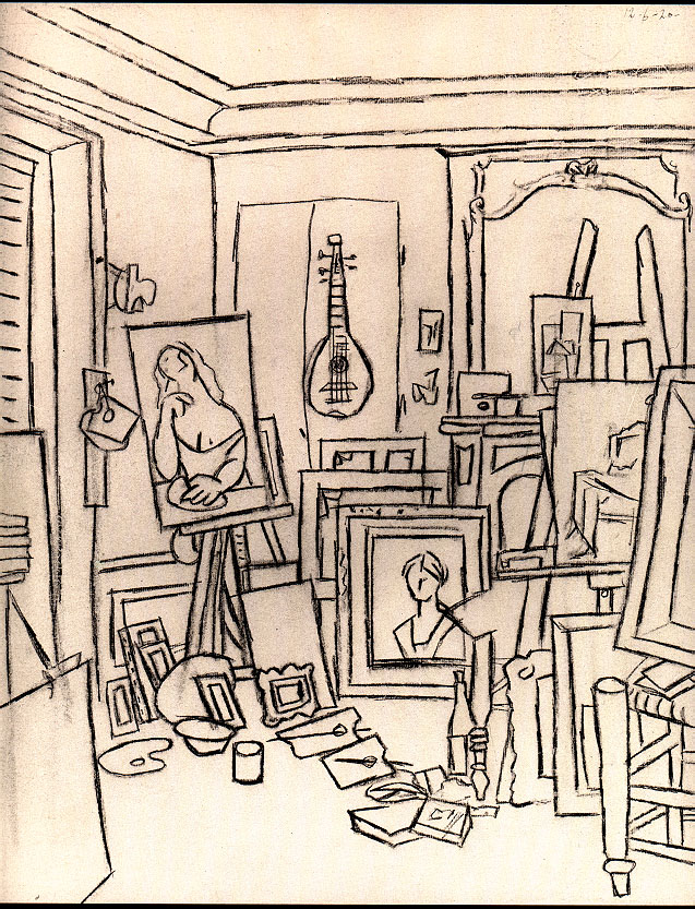 637x833 Artist's Studio On Street La Boetie
