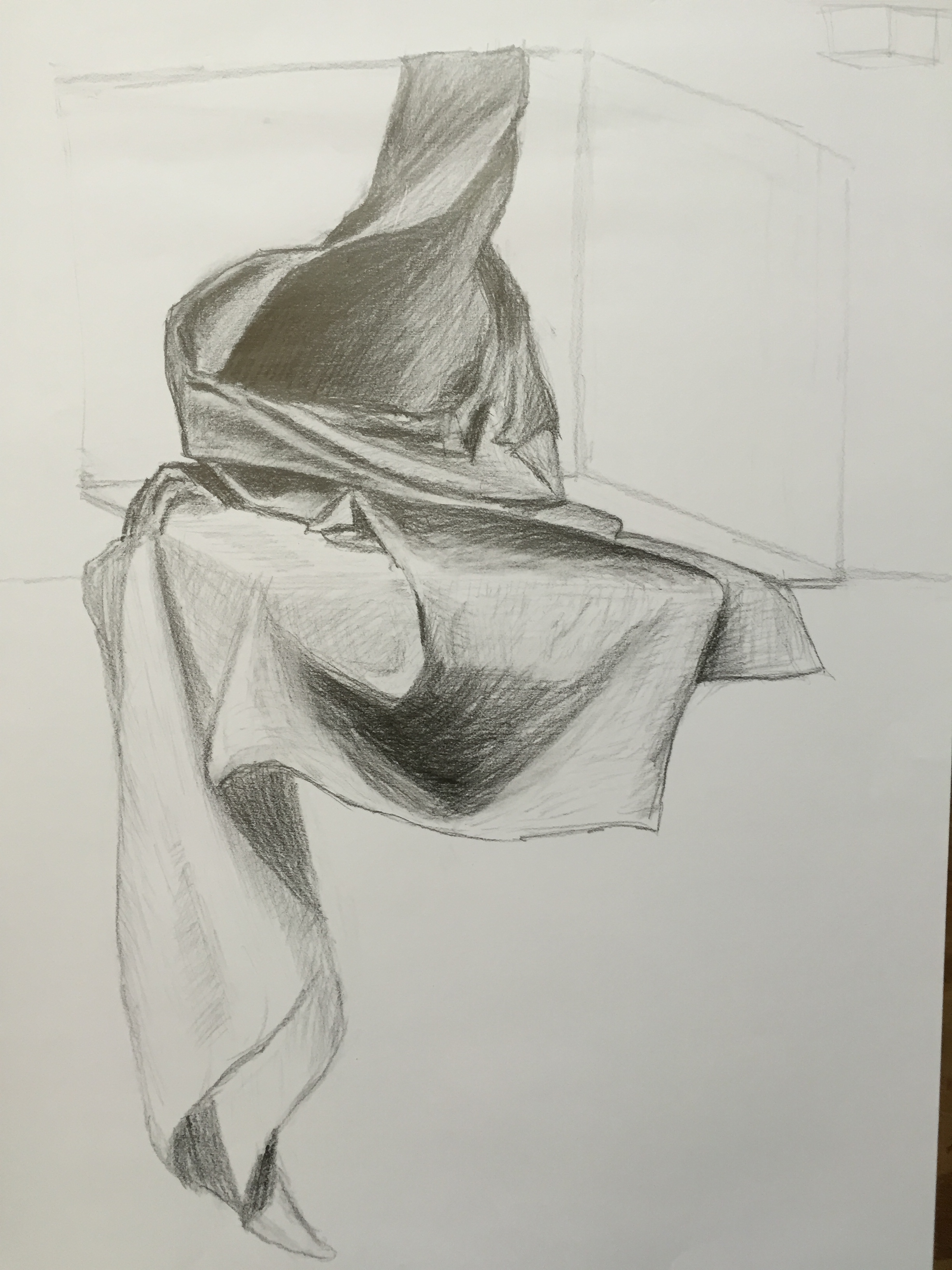2448x3264 Today's Drapery Study Drawing Explorations In Textiles