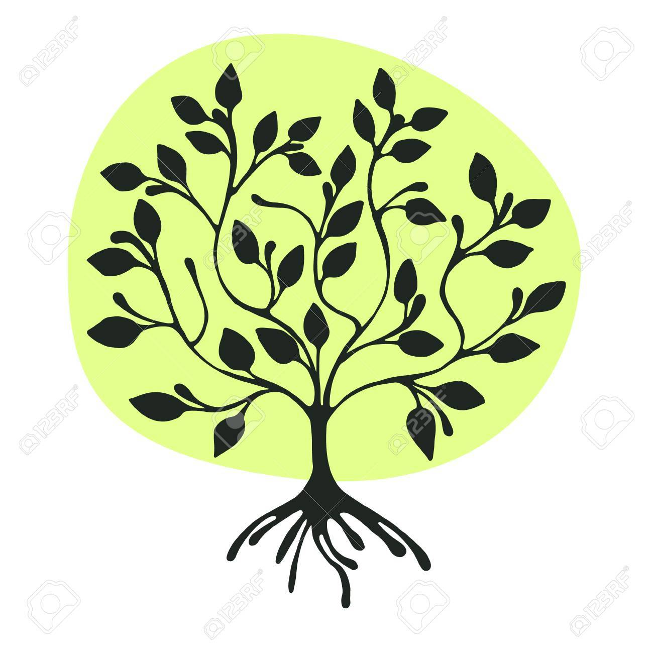 Stylized Tree Drawing at GetDrawings.com | Free for personal use ...