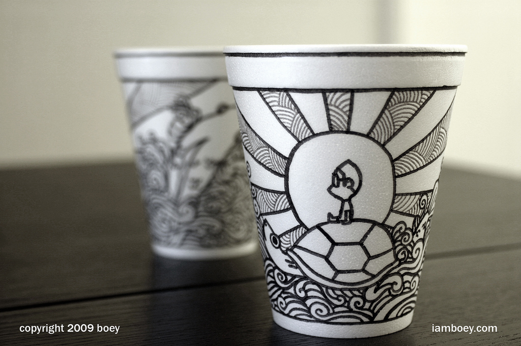1024x680 Spectacular Sharpie Art On Styrofoam Cups Tips For Knowledge
