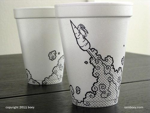 500x375 Styrofoam Cup Drawings By Cheeming Boey