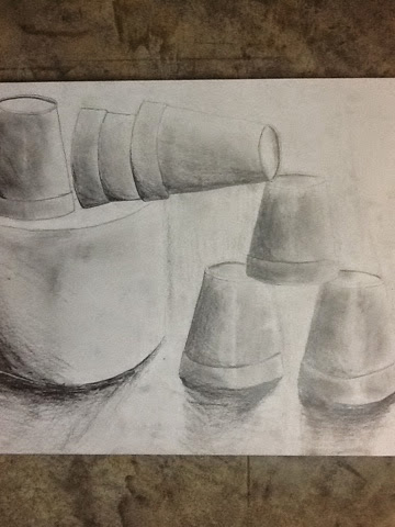 360x480 Tales From The Art Room Finished Styrofoam Cup Still Life Drawings