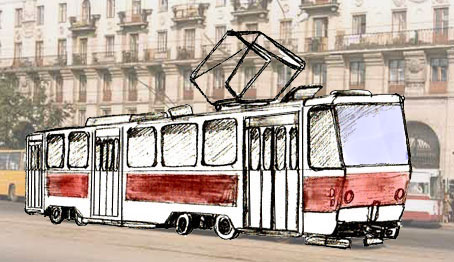 454x262 How To Draw A Trolley