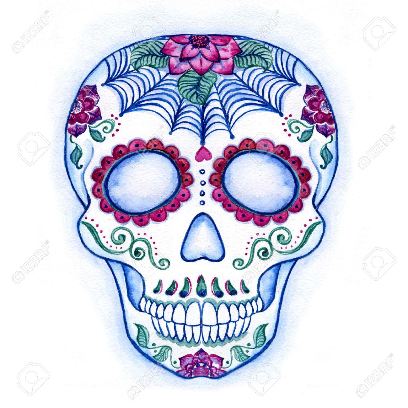 sugar skull drawing template at getdrawings com free for personal