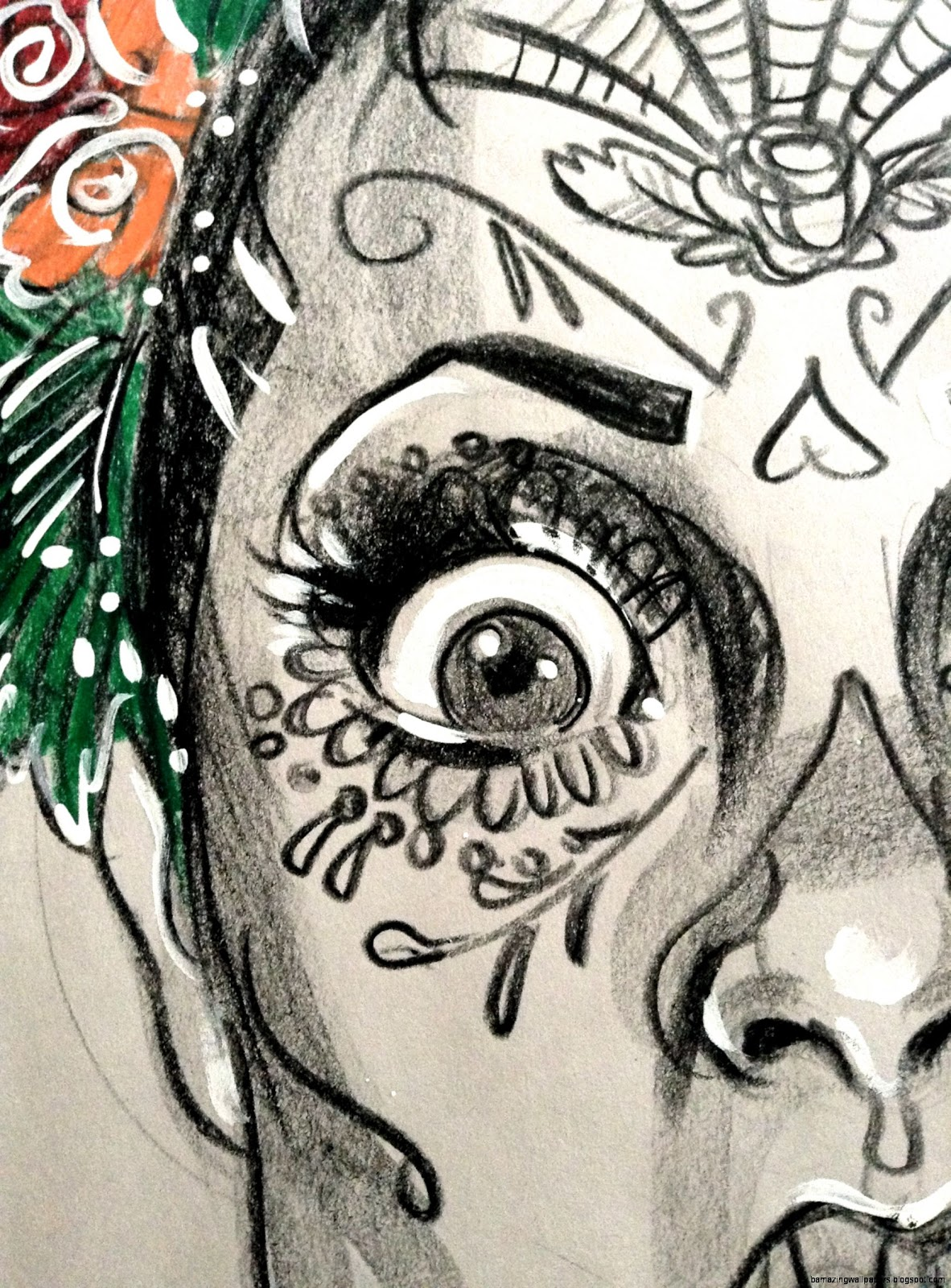 1182x1600 Sugar Skull Drawings Tumblr Amazing Wallpapers