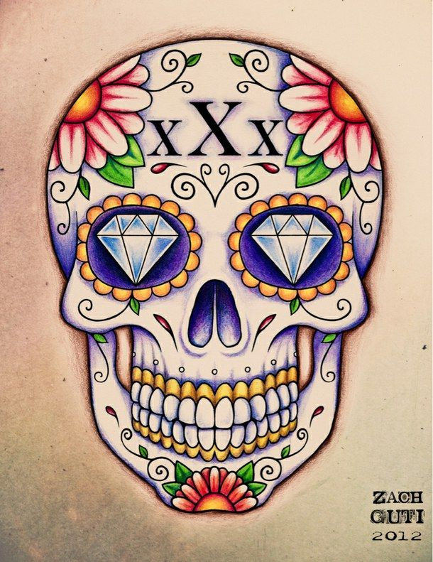 610x791 Cute Hipster Love Skulls Sugar Skull Tattoo