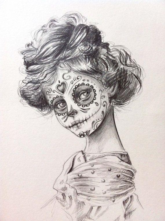570x763 Ob Ce1ac9 44877 Sugar Skull Drawing Tumblr Day O.jpg