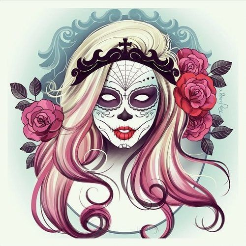 500x501 Tati Ferrigno Tumblr Art Candy Skulls And Art Google