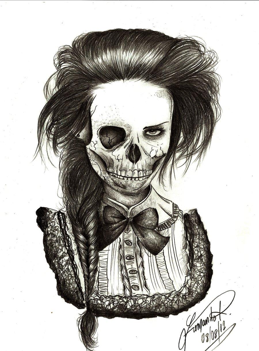 900x1219 Cool Skeleton Drawings Skeleton Face Drawing