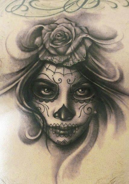 428x610 Sugar Skull Face Tattoo Sugar Skull Faces Skull