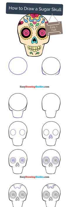236x700 How To Draw Sugar Skulls, A Drawing Tutorial For Kids And Adults