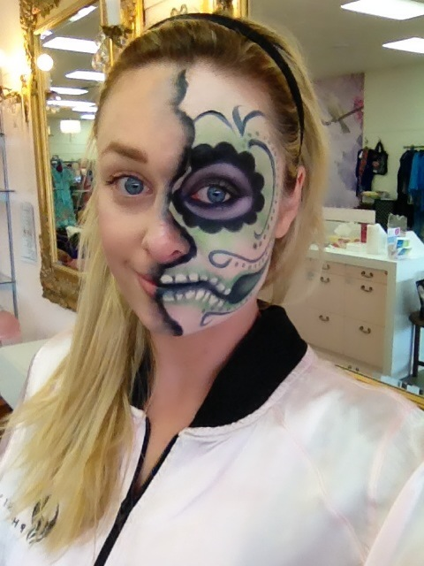 480x640 How To Sugar Skull Halloween Makeup! Phoenix Renata