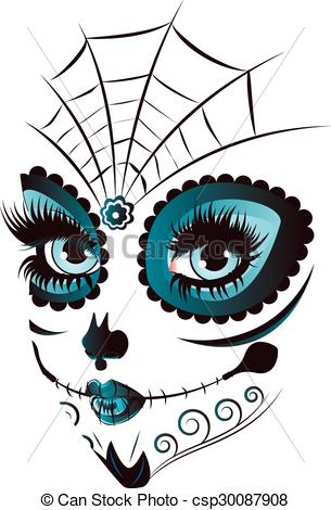 305x470 Sugar Skull Clipart Drawn'60446
