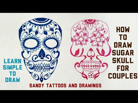480x360 Step By Step Drawing Process Explained Sugar Skull Tattoo Design