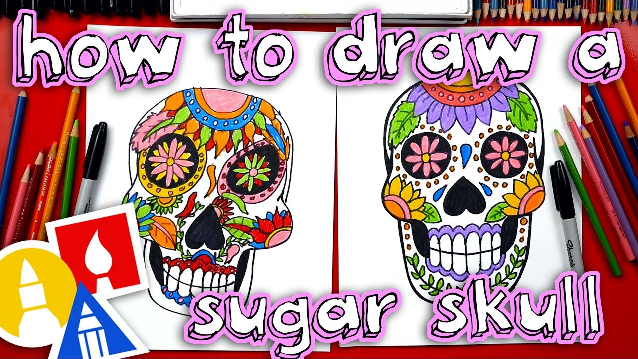 1280x720 How To Draw A Sugar Skull