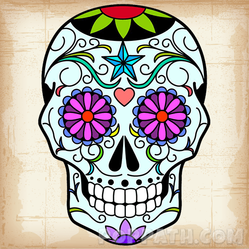 512x512 How To Draw A Sugar Skull Pop Path