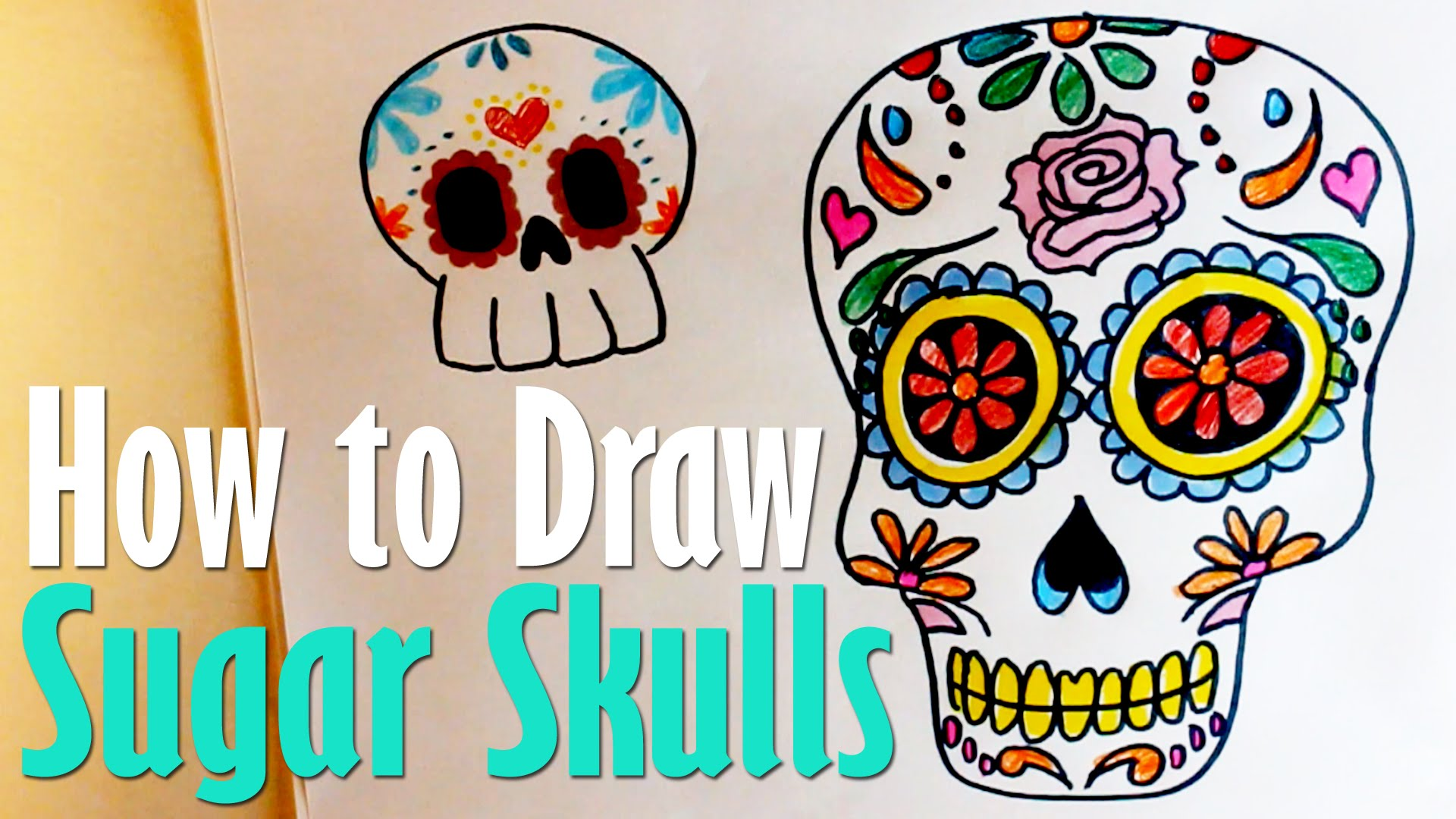 1920x1080 How To Draw Sugar Skulls