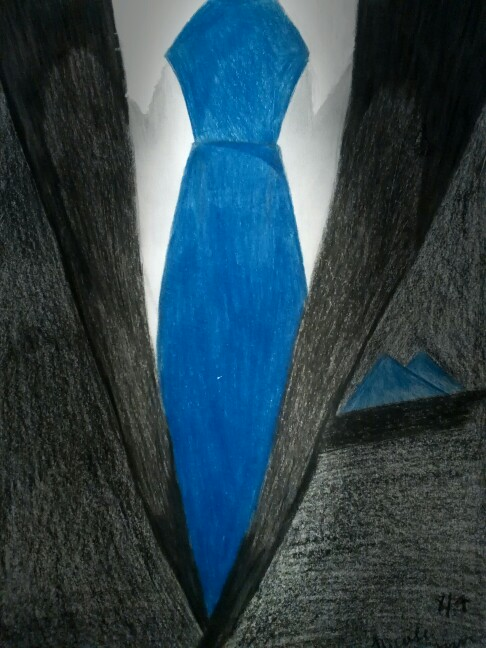 486x648 Drawing Of A Suite And Tie. Nicole Benton