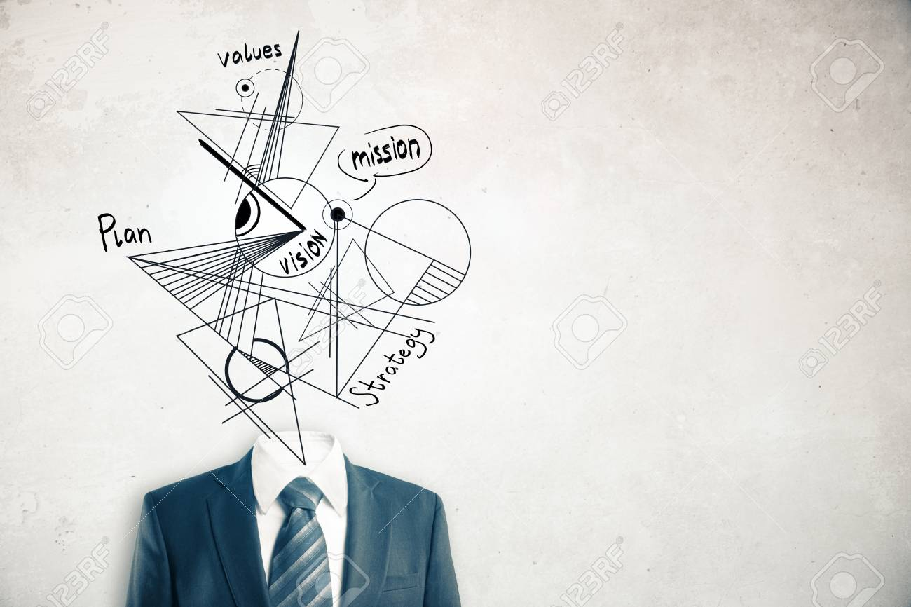 1300x866 Headless Businessman In Suit And Tie With Abstract Geometric