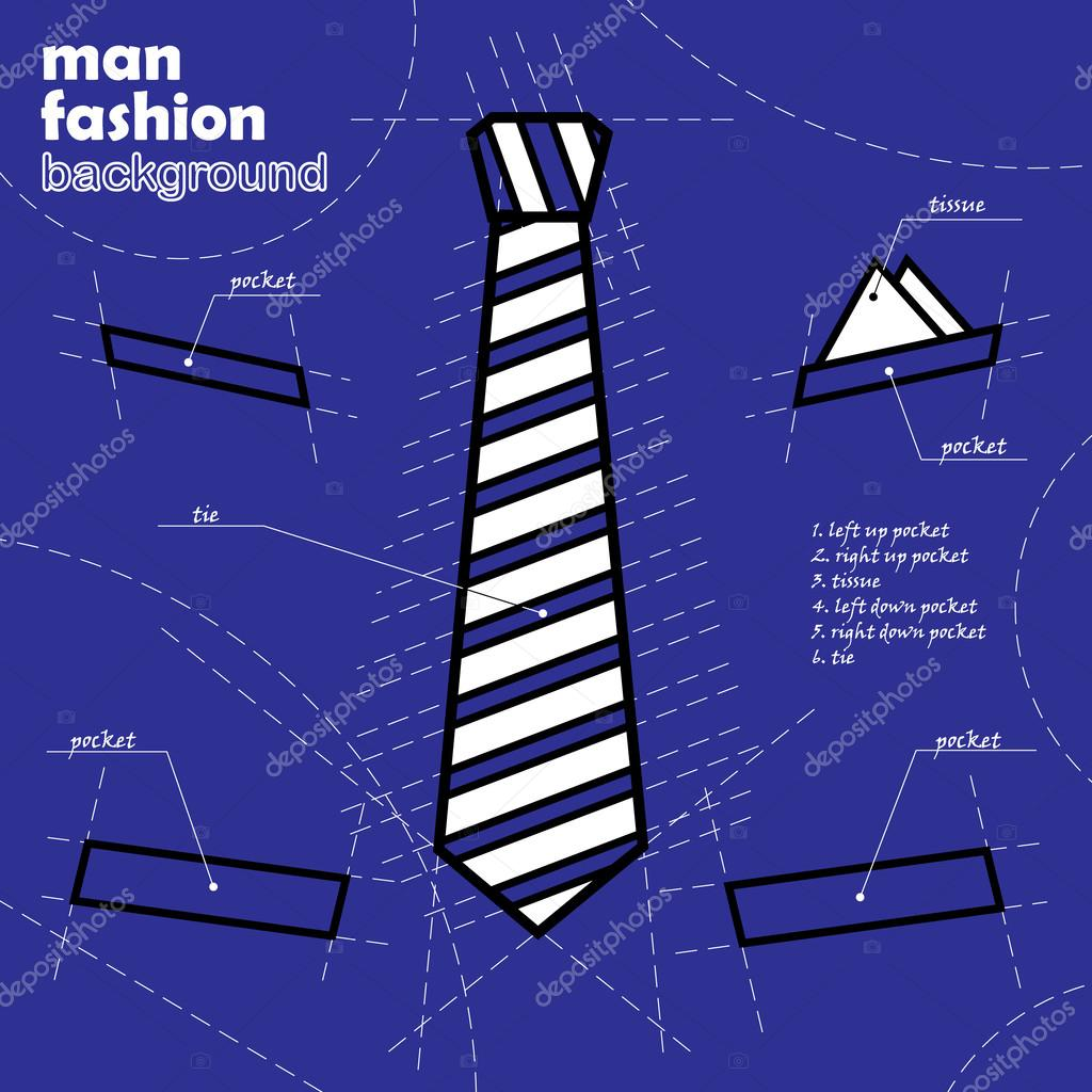 1024x1024 Suit Design. Tie Vector Background. Infographic Illustration, Icon