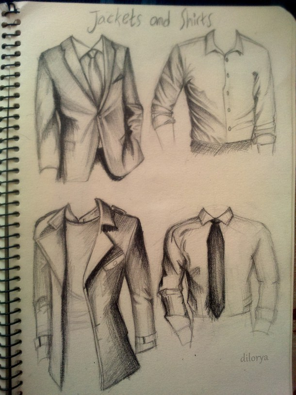 610x813 Jackets And Suits Drawing