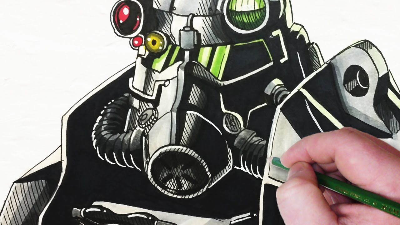 1280x720 Let's Draw Fallout Power Armor