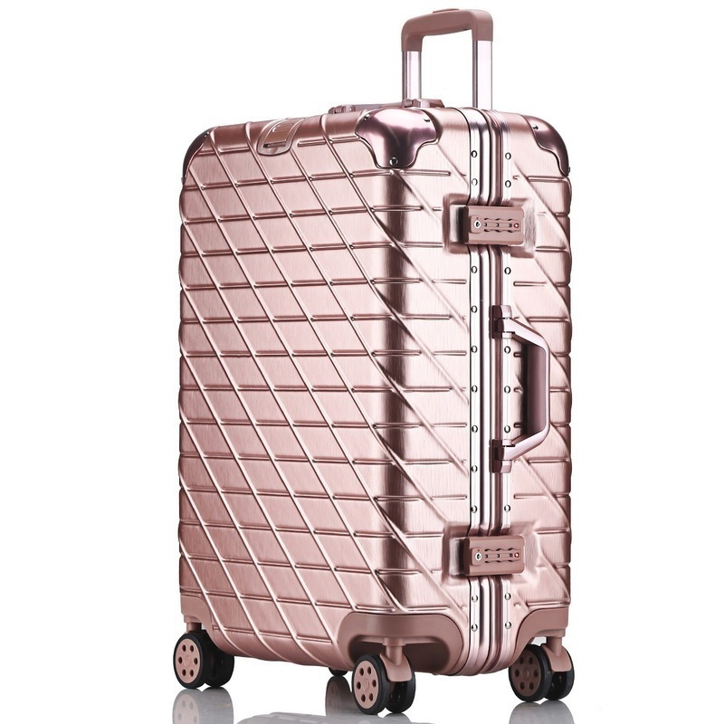 800x800 20 Inch A Drawing Scratch Luggage Trolley Suitcase Rose