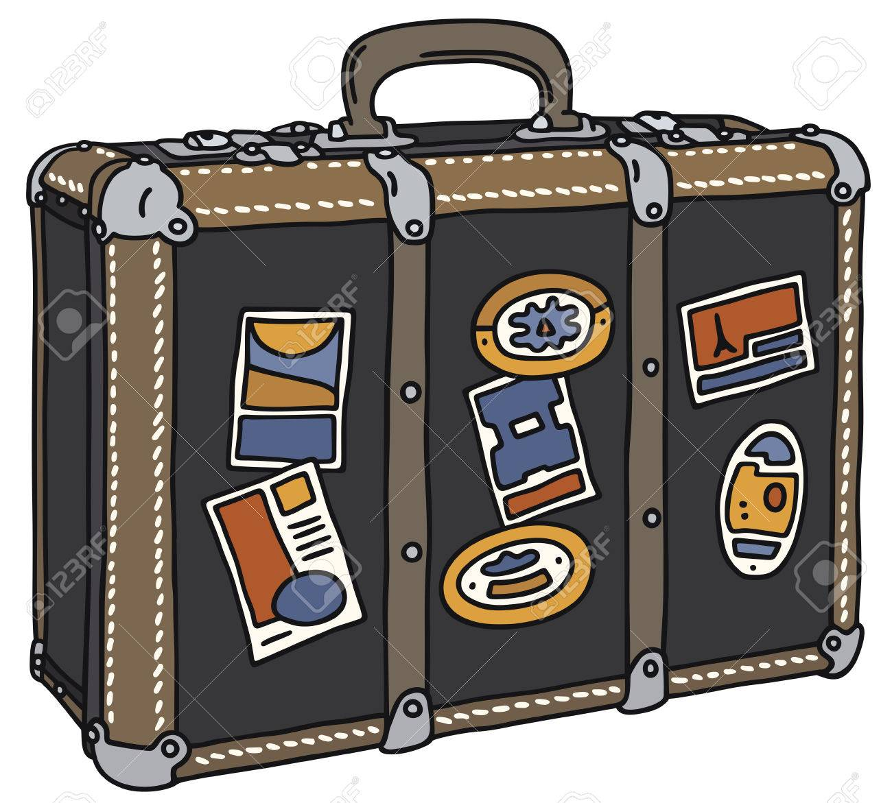 1300x1171 Hand Drawing Of A Suitcase Royalty Free Cliparts, Vectors,