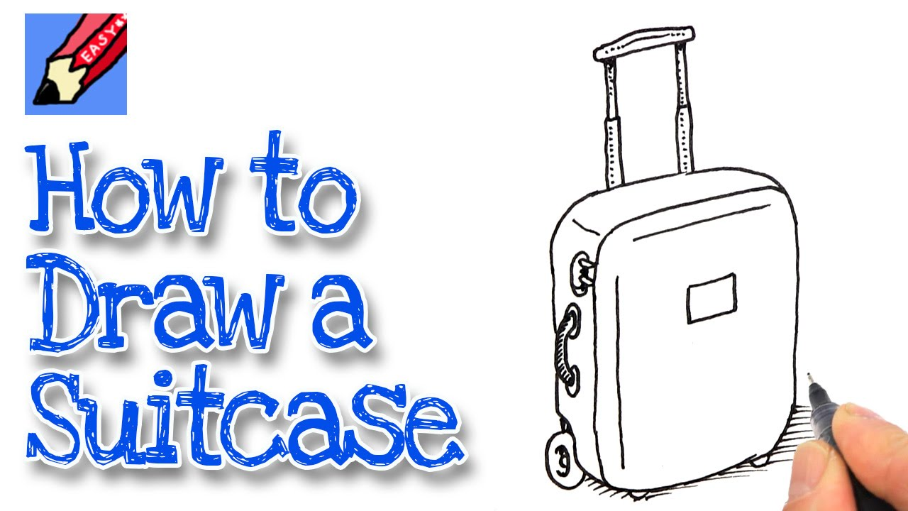 1280x720 How To Draw A Suitcase Real Easy