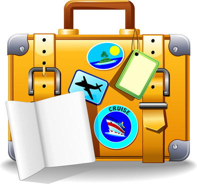 395x368 Vector Travel Suitcase Drawing Free Vector Download (90,767 Free