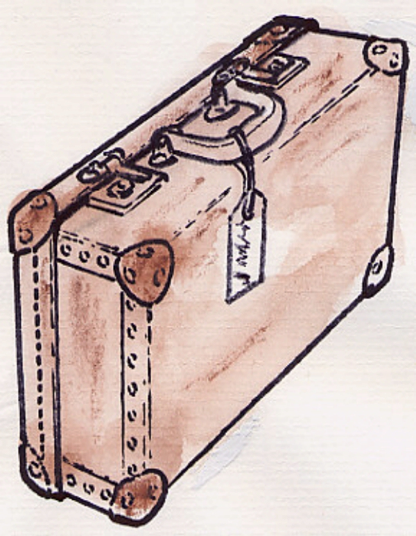 600x772 Drawing Of A Suitcase. Suitcase Project Suitcase