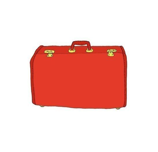 547x525 Red Suitcase Art Suitcase, Bag Illustration