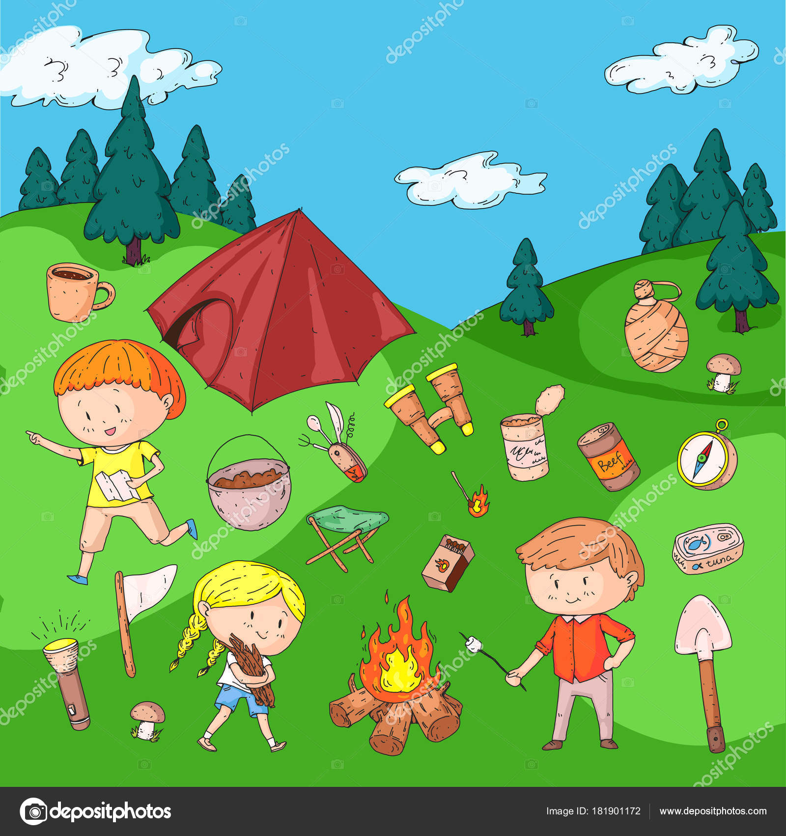 Summer Camp Drawing at GetDrawings.com | Free for personal use ...