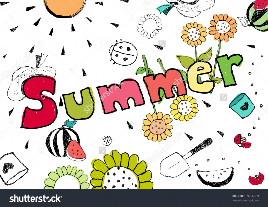 1024x792 Drawing Pictures Of Summer Season