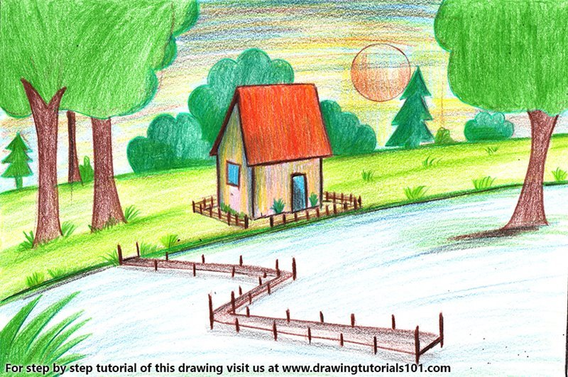 800x531 Learn How To Draw Summer Season Scenery (Summer Season) Step By