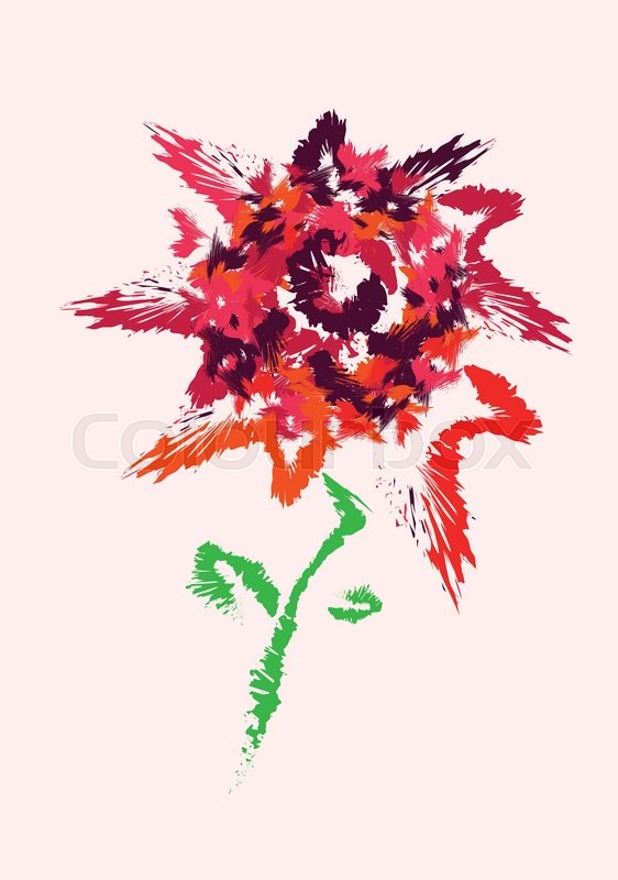 562x800 Bright Color Summer Flower Vector Drawing Stock Vector Colourbox
